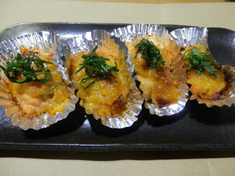 鮭のガーリック味噌焼き