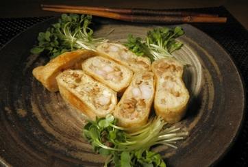 納豆と大和芋の詰め揚げ